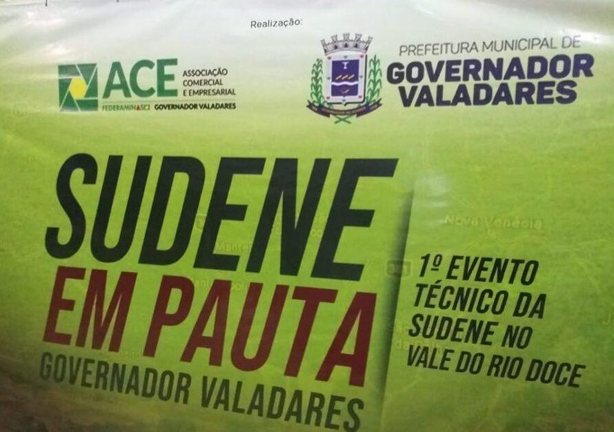 Cartaz do evento da Sudene em Gv